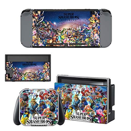 Super Smash Bros Ultimate Nintendo Switch Skin / Decal / Vinyl / Sticker - Super Smash Bros Ultimate All Characters Classic Design