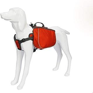 Nfudishpu Dog Saddle Bag 2 in 1 Dog Backpack Waterproof Dog Harness Backpack Saddle Bag for Medium Large Dogs Travel Campi...