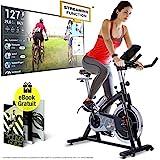 Sportstech Vélo d'appartement ergomètre SX200 avec Commande par Application Smartphone, Poids...