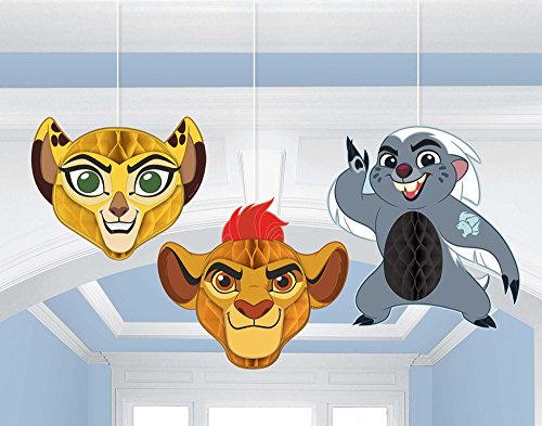 amscan Lion Guard Honeycomb Decorations 3 Count Birthday Party Supplies Lion King Hanging