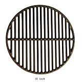 Dracarys 15' Cast Iron Grate Grids Sear Grate Fire Pit, Round Cooking Grate Big Green Egg Accessories Fit for Medium Big Green Egg Grill Dome Char-Griller or Same Size Charcoal Grill(Medium - 15')
