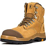 ROCKROOSTER Men's Work Boots, Steel Toecap, Antistatic, Safety Shoes, Rubber outsole EEE Job-Fitted Boots for The Electrician, Carpenter, Ironworker, Boilermaker, Sheetmetal Worker etc. AK232-12