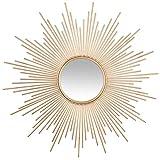 UNIVERS-DECOR Miroir déco Soleil Tube doré 99 cm Atmosphera
