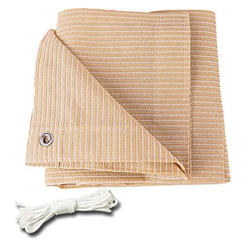 Toldos Sombreado 90% Tela De Sombra Negra Taped Edge Con Ojales Tela De Sombra Sombrilla Cubierta Para Pérgola Respirable Resistente A Rayos UV Lona De Polietileno (Color : Beige-3.3x3.3ft/1x1m)