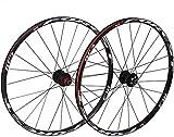 Juego De Ruedas Bicicleta MTB bicicletas de ruedas, 26 / Sealed 27.5In de pared doble de aleación de aluminio de bicicletas de montaña Ruedas V-Brake Disc aro Freno Rodamientos 8/9/10 velocidad de cas