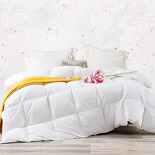 Amazon Brand - Umi Edredón Nórdico 100 % Algodón Relleno De Plumón De Ganso 135x200cm-Cama 80 con Aroma A Rosas (Blanco, 4 Estaciones)