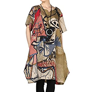 Women's Summer Abstract Printing Baggy Dress