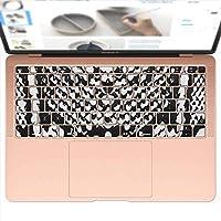 igsticker MacBook Air 13inch 2018 専用 キーボード用スキンシール キートップ ステッカー A1932 Apple マックブック エア ノートパソコン アクセサリー 保護 011586 蛇柄 アニマル柄 黒