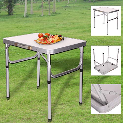 BALLSHOP Camping Table Foldable Picnic Table Portable Folding Camping Picnic Table Party Kitchen Outdoor Garden Bbq Aluminum For Outdoor Kitchen Garden Parties