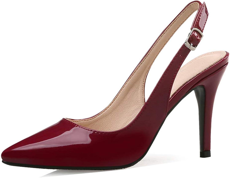 LIURUIJIA Women's Pumps Slingback Pointed Toe Low Heel Dress Pumps shoes MJT1-W10612-01