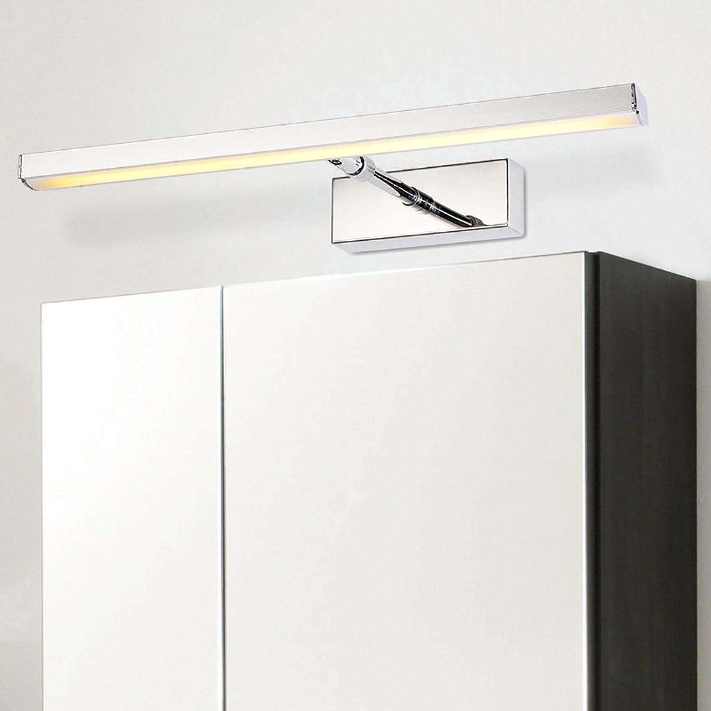 A LED-Spiegel-Frontseiten-Licht-moderner minimalistischer Edelstahl-teleskopische Badezimmer-Badezimmer-Spiegel-Schrank-Lampen-Wand-Lampe ( Farbe   Warmes Licht-453.5CM(6W) )