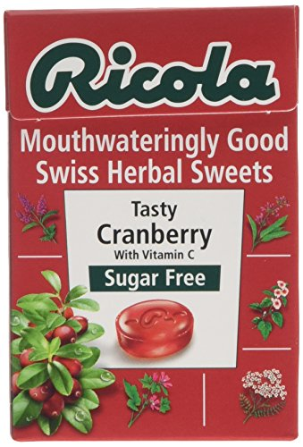 Ricola Cranberry Sugar Free Swiss Herb Drops 45 g