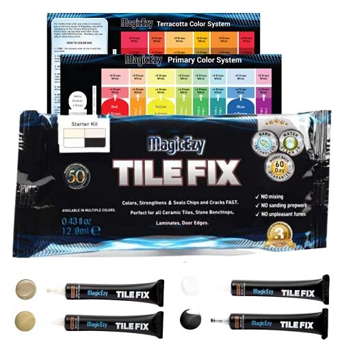 MagicEzy - Kit de reparación de azulejos, multicolor