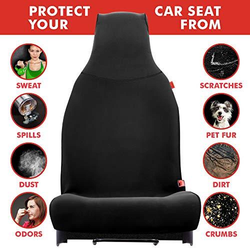 Lusso Gear Waterproof Car Seat Cover - Repels Sweat