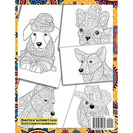 200 simpatici cani e gatti – Libro da colorare – Shiba Inu, Peterbald, Miniature Bull Terrier, Mandarin, Dandie Dinmont Terrier, altri