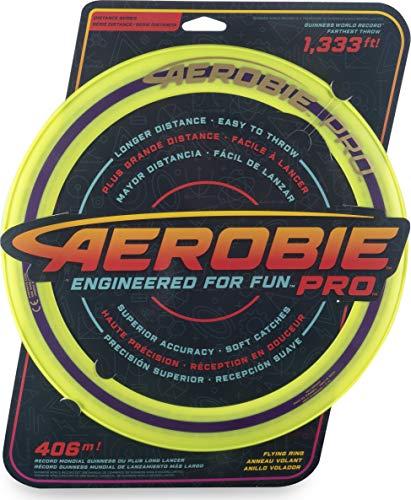 Aerobie 6046389 - Pro Flying Ring Wurfring mit Durchmesser 33 cm, gelb