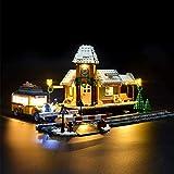 ZJJ Illuminazione Kit Compatibile con Lego 10259 Corredo della Luce del LED per (Stazione Villaggio Invernale Creatore Expert) Building Blocks, (Non Incluso Lego Set)