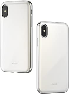Moshi iGlaze Stylish Slim case for iPhone Xs/iPhone X Fit Lightweight Snap-On Hybrid Drop Protection(White)