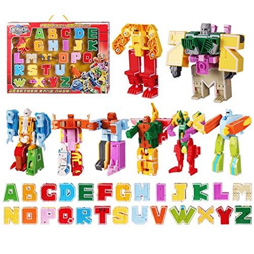 Heroes Rescue Bots Toy Model Modèle de robot de déformation Toy Jouet de déformation numérique, Robot de déformation 6-12 ans Garçon Puzzle Alphabet Animal Assemblé Ensemble