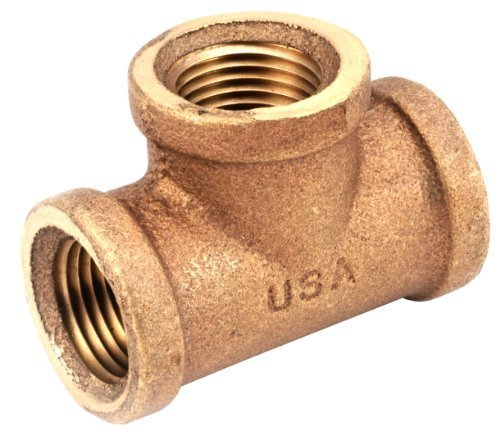 Anderson Metals 738101-16 1-Inch Low Lead Tee, Brass by Anderson Metals