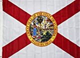 4x6 Ft State of Florida Flag Oxford 200D Heavy Duty Nylon Double Stitched with Two Grommets and Canvas Head