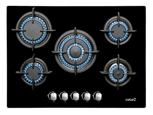 Placa de gas Cata L 705 Ci | Encimera de gas con 5 zonas de cocción - Gas natural / Butano.