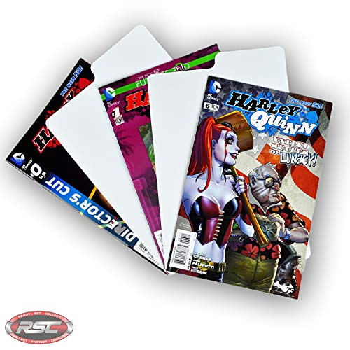 Premium White Plastic Comic Book Title Dividers - Easily Find Comics! (Lot of 50)