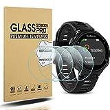 Diruite 4 Stück für Garmin Forerunner 735XT Panzerglas Schutzfolie, HD Glas Bildschirmschutzfolie für Garmin Forerunner 735XT Intelligente Uhr [Anti-Kratzen] [Anti-Öl] [Keine-Blasenfrei]