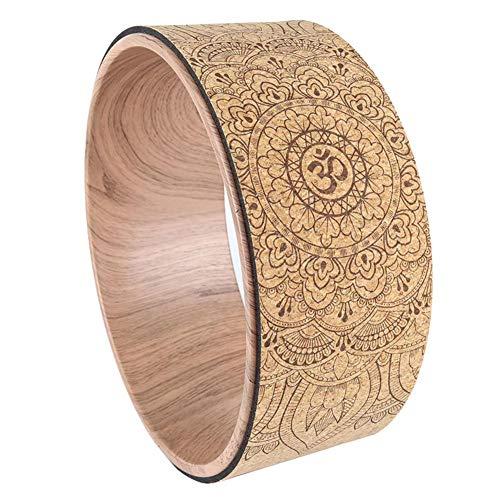 winnerruby Yoga Wheel Cork, Yoga Wheel con Natural Mandala-Aufdruck, Back Pilates Yoga Circle, Schaumstoffrolle para dilatación, Rückenschmerzen Tiefengewebe, Masaje, Yoga-Position y Pilates-Übungen