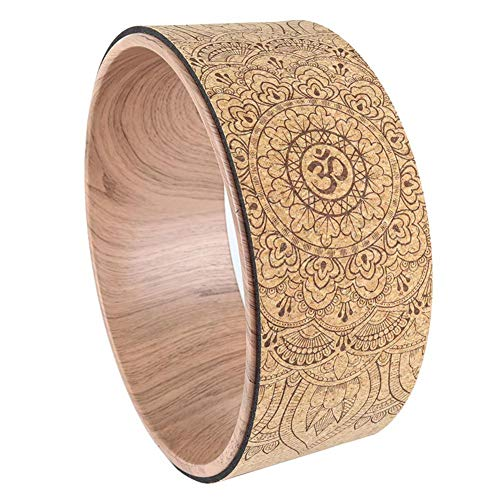 luckything Yoga Wheel, Yoga Natürlicher Rad Und Bequemstes Dharma Yoga Prop Rad, Perfektes Zubehör Zum Dehnen Und Verbessern Von Rückbeugen Für Dehnübung, Rückbeugen, Flexibilität
