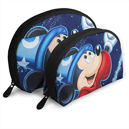Magic Mick-EY Mouse Makeup Bag Travel Bags Small Shell Bag Portable Toiletry Clutch Pouch 2Pcs