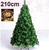 SD Arbol de Navidad 210 cm Pino Verde clásico +NAVIDEÑO + 100 Luces LED