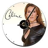 MasTazas Celine Dion Horloge CD Clock 12cm