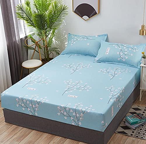 XLMHZP Sábana bajera ajustable geométrica para cama doble, tamaño Queen, sábana bajera ajustable con funda elástica para colchón, decoración de apartamento, dormitorio, 17 x 90 x 200 cm+25 cm