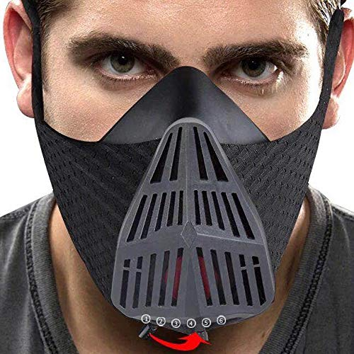 Trainingsmaske Elevation Atemmaske Fitness Maske für Gym Atmung Cardio Fitness Laufen Ausdauer HIIT Ausdauertraining
