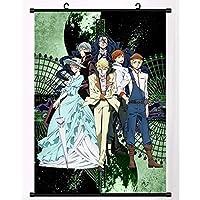 文豪ストレイドッグスアニメ巻物ポスター室内装飾アートコレクションアニメーション周辺ファンギフト 50x75cm/19.7x29.5Inch