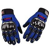 CHENWEI- Guanti Touch Screen Moto Guanto Uomo Donne Bicicletta for Honda HRC CBR CBR1000RR CBR650F CBR600RR CBR500R CBR300R CBR250R (Color : Blue)