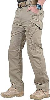 comprar comparacion Teekit Pantalones Largos Impermeables de Trabajo para Hombres con Bolsillos Pantalones Sueltos