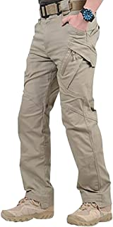 Arateck  Men Waterproof Work Cargo Long Pants with Pockets Loose Trousers