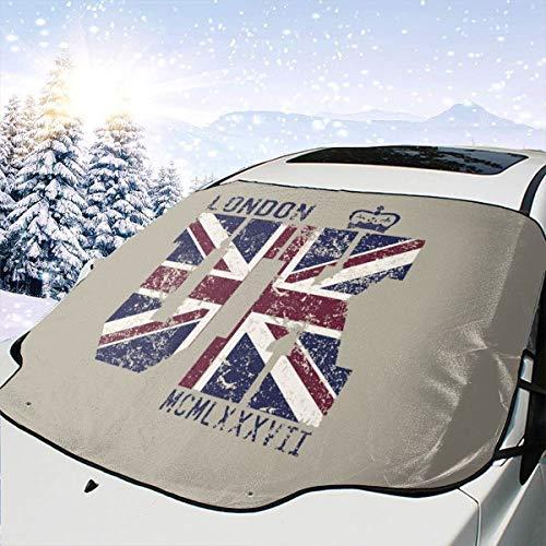 Mattrey Windschutzscheibe, Sonnenschutz, Motiv: Londoner Flagge, Schwarz, Einheitsgröße