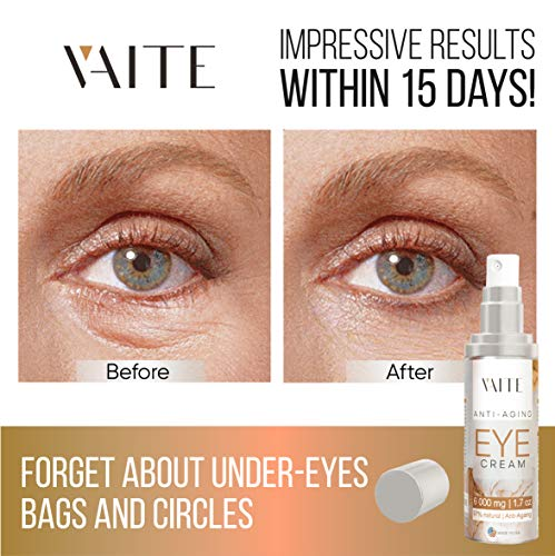 51+9BnUPy6L - Eye Cream Treatment for Anti-Aging, Bags, Puffiness, Circles, Wrinkles, Dark Circles Under Eyes - Best Organic Natural Eye Gel For Men and Women with Hydrating Serum and Vitamin C