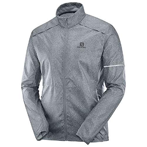Salomon Men's Agile Wind Jacket, Gray, Large