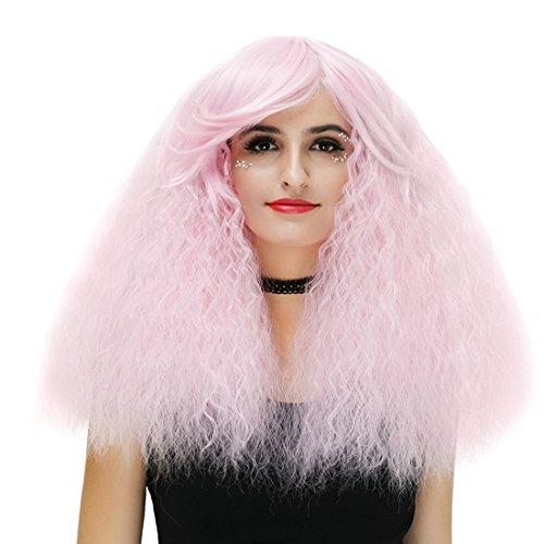 39,9 cm Femme courtes bouclés Halloween Cosplay Perruque avec capuchon Couleur unie