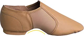 Daydance Leather Jazz Shoes Slip On for Girls