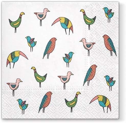 Colorful Birds Paper Luncheon Superlatite Napkins Craft Parrot Toucan 40pcs Cheap bargain