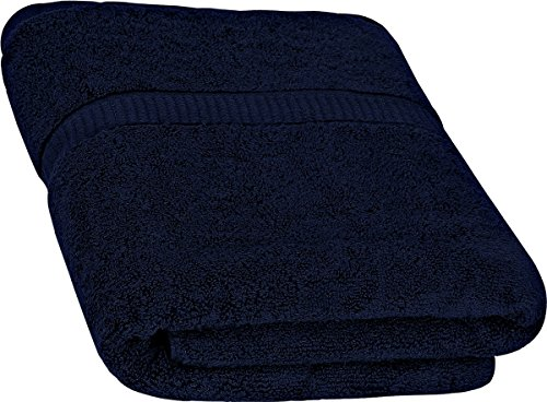 Cotton Bath Towels (Navy, 30 x 56 Inch) Luxury Bath Sheet Perfect for Home, Bathrooms, Pool and Gym Ringspun Cotton by Utopia Towels