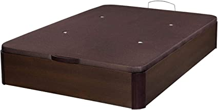 Santino Canapé Abatible Wooden Gran Capacidad Wengué 150x200 cm con Montaje a Domicilio Gratis