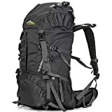 Loowoko Hiking Backpack 50L Travel Daypack Waterproof with Rain Cover for Climbing Camping...