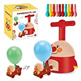 AJAMQ Upgraded Balloon Powered Car Launcher Toy Set, Inertial Power Rocket Flying Toy Children Educational Toys, for Family Preschool Creative Science Experiment Toys