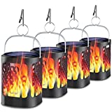 Upgraded Solar Lanterns Outdoor Hanging, YoungPower Dancing Flame Outdoor Torch Lights Solar Powered Umbrella Night Lights Dusk to Dawn Auto On/Off Landscape Lighting for Garden Camping Party, 4 Pack